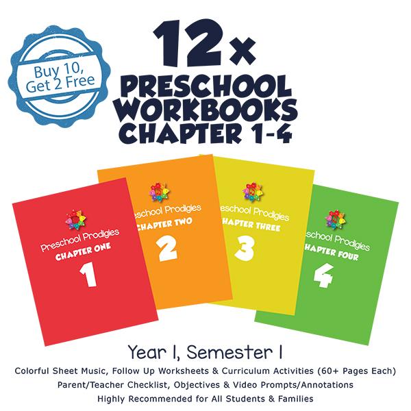 PRESCHOOL 1. YIL (12'li sınıf seti ) Books ( Ch 1- 4 )
