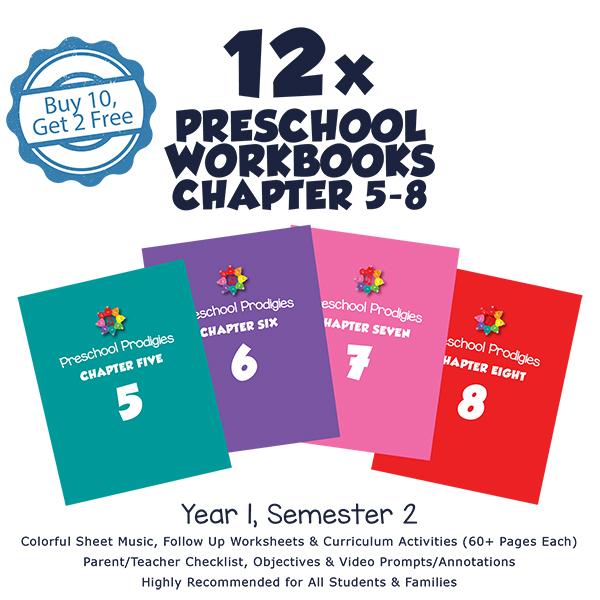 Preschool 2. YIL ( 12'li sınıf seti ) Books ( Ch 5-8 )